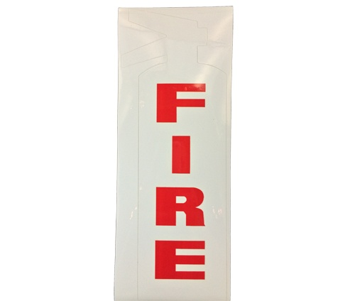 Brooks bl135w vinyl self adhesive white fire die cut for Self adhesive letters white