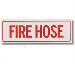 "Brooks BL111 Self-adhesive Vinyl ""FIRE HOSE"" Sign - 12"