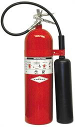 Amerex AX331 Carbon Dioxide 15 lb (CO2) Fire Extinguisher - w/Wall Hanger