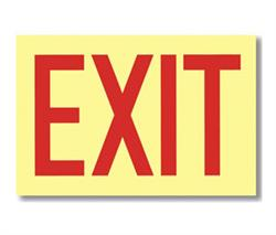 Brooks G112 Glow in the dark EXIT Sign