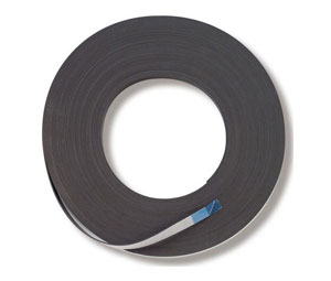Magnetic strip with adhesive backing