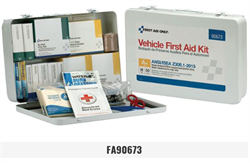 Brooks - FA90673 50-Person, 279-Piece, ANSI A+, Vehicle First Aid Kit, Metal