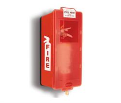 Brooks BECO - Mark 2 Jr.- M2JM -ABS Plastic Fire Extinguisher Cabinet- (Red/Red Cover)