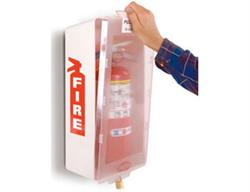 Brooks Brooks BECO-Mark 1 Jr. MJWC ABS Plastic Fire Extinguisher Cabinet- (White/Clear Cover)
