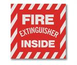 "Brooks BL105 Vinyl Self-adhesive ""FIRE EXTINGUISHER INSIDE"" Sign - 4"