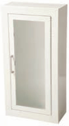 JL Industries 1015F10 Ambassador Cabinet-Full Glazing Door-Primed Steel-Recessed-Flat Trim