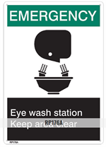 Brooks RP176A Emergency Eye Wash Sign EMERGENCY EYE WASH - 7
